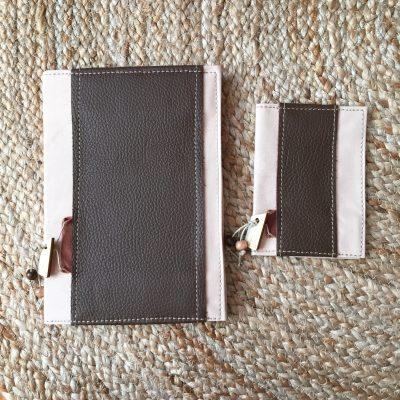 notebook en passportcover bruin