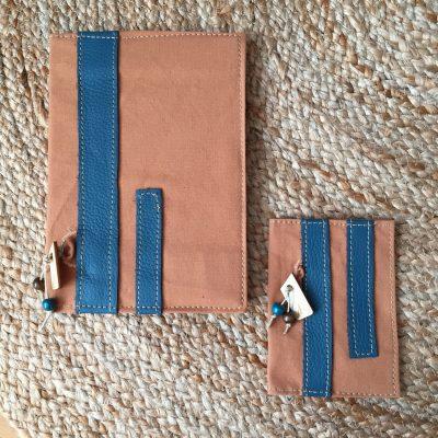 notebook en passportcover turquoise