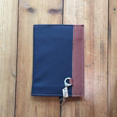 notebook donker blauw leer