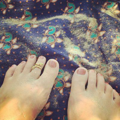 zomer blote voeten